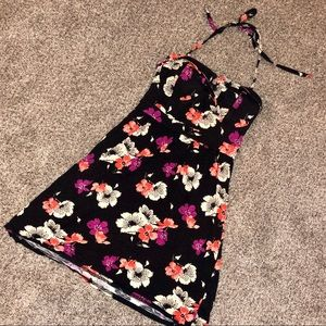 Black Floral American Eagle Dress